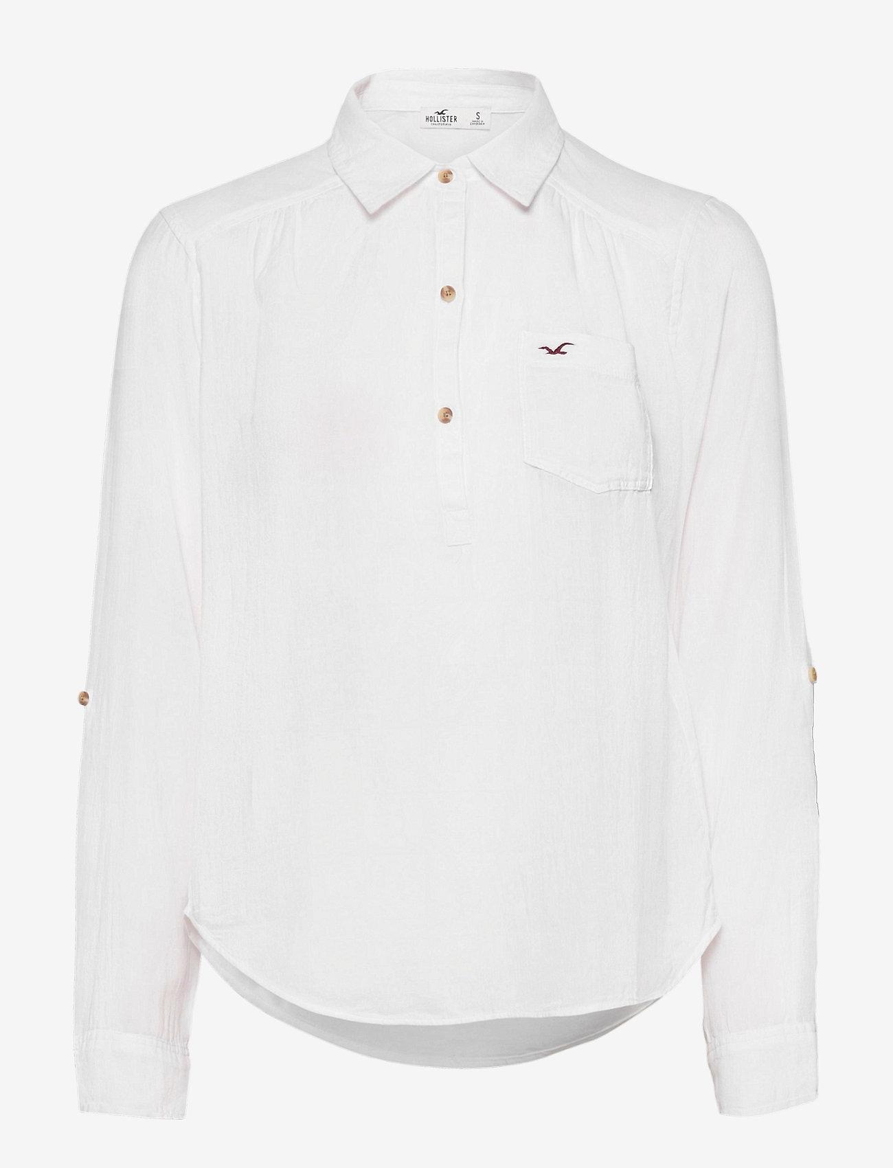 Hollister - POPOVER - chemises à manches longues - white - 0