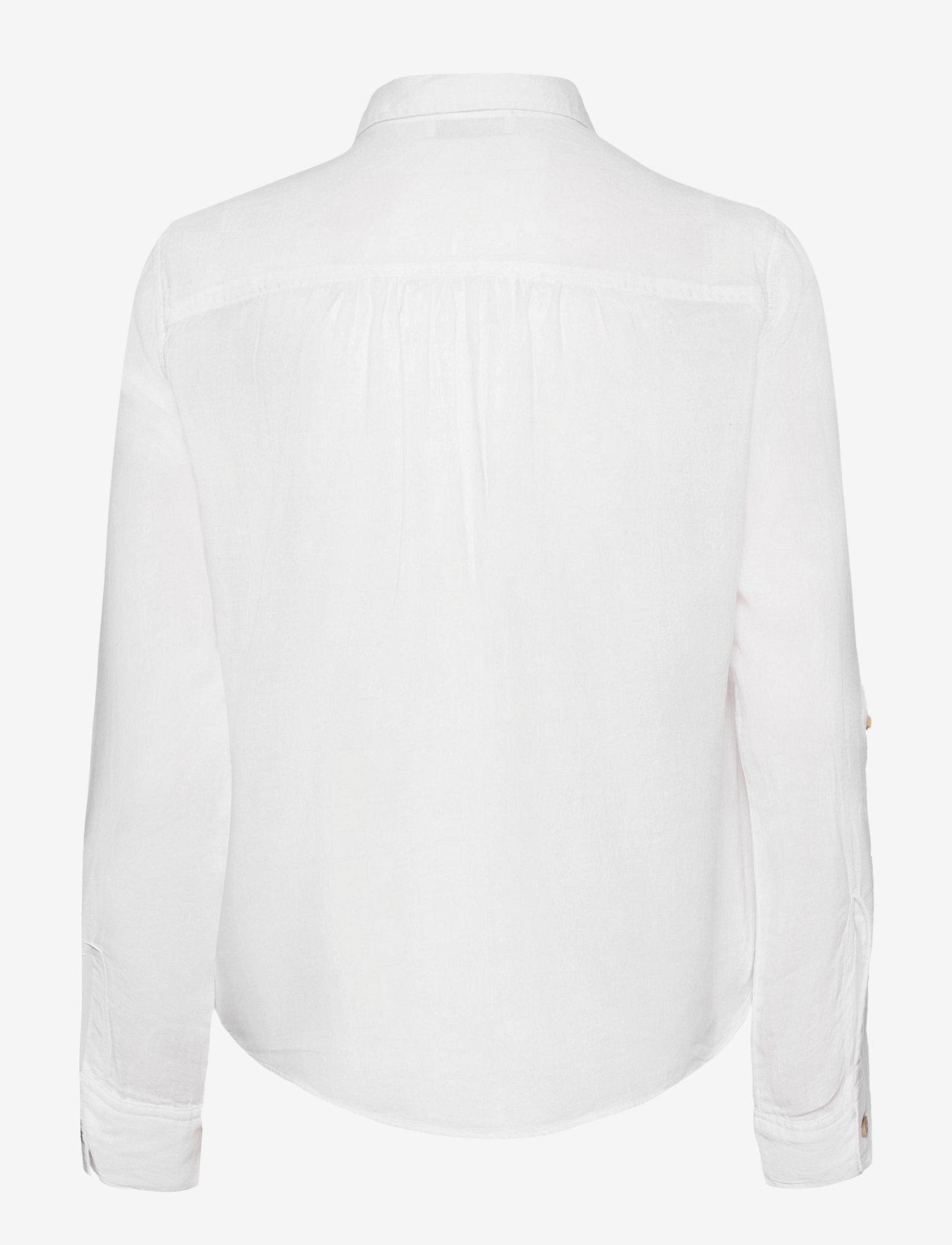 Hollister - POPOVER - chemises à manches longues - white - 1