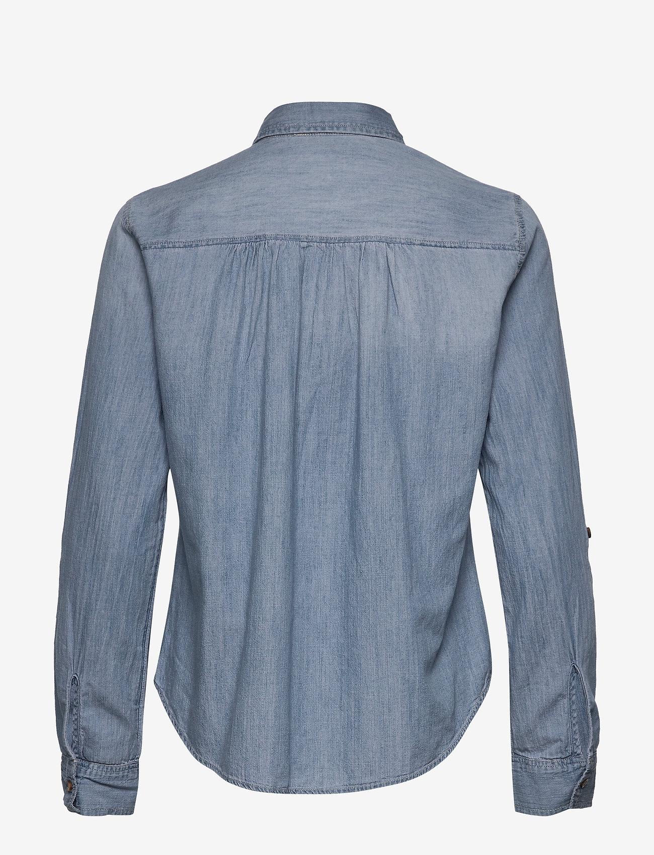 Hollister - Chambray Popover - jeansblouses - medium - 1