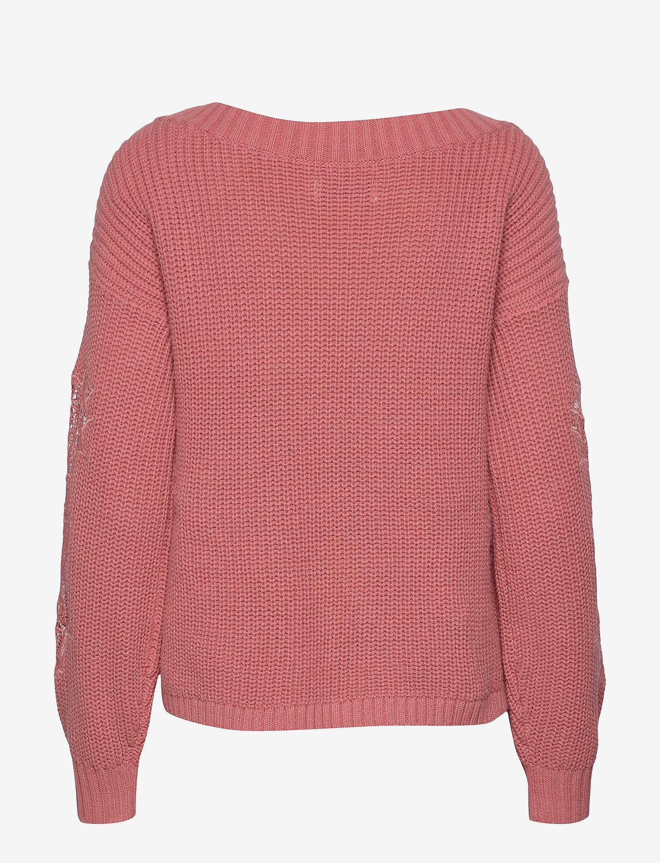 Laced Piece Sweater (Dark Pink Dd) - Hollister DJw63v