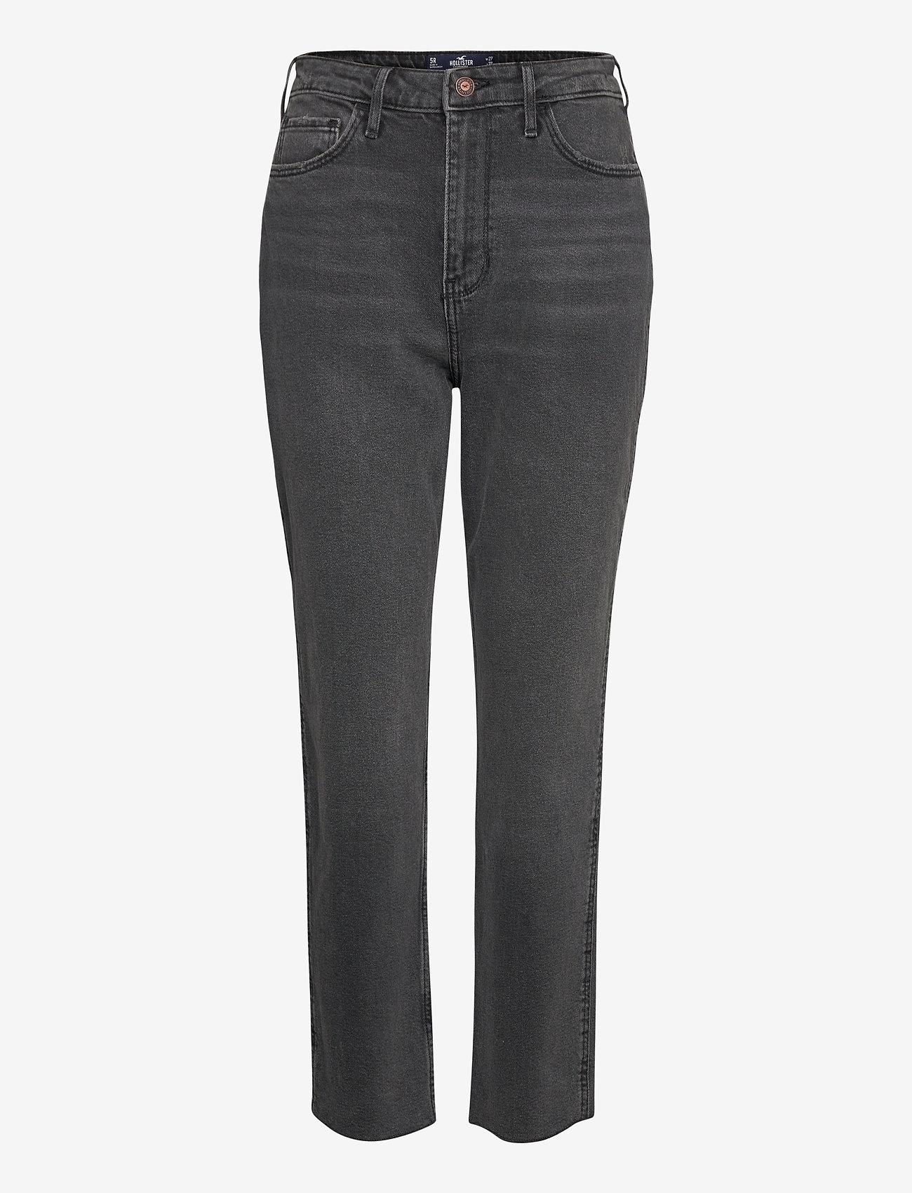 Hollister - UHR MOM - straight jeans - washed black - 0