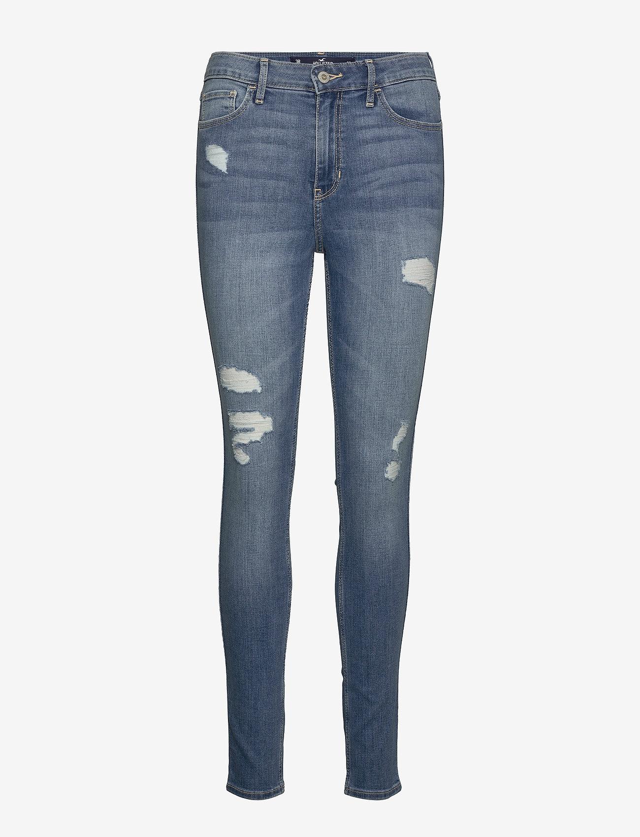 Hollister - High Rise Super Skinny - skinny jeans - light destroy - 0
