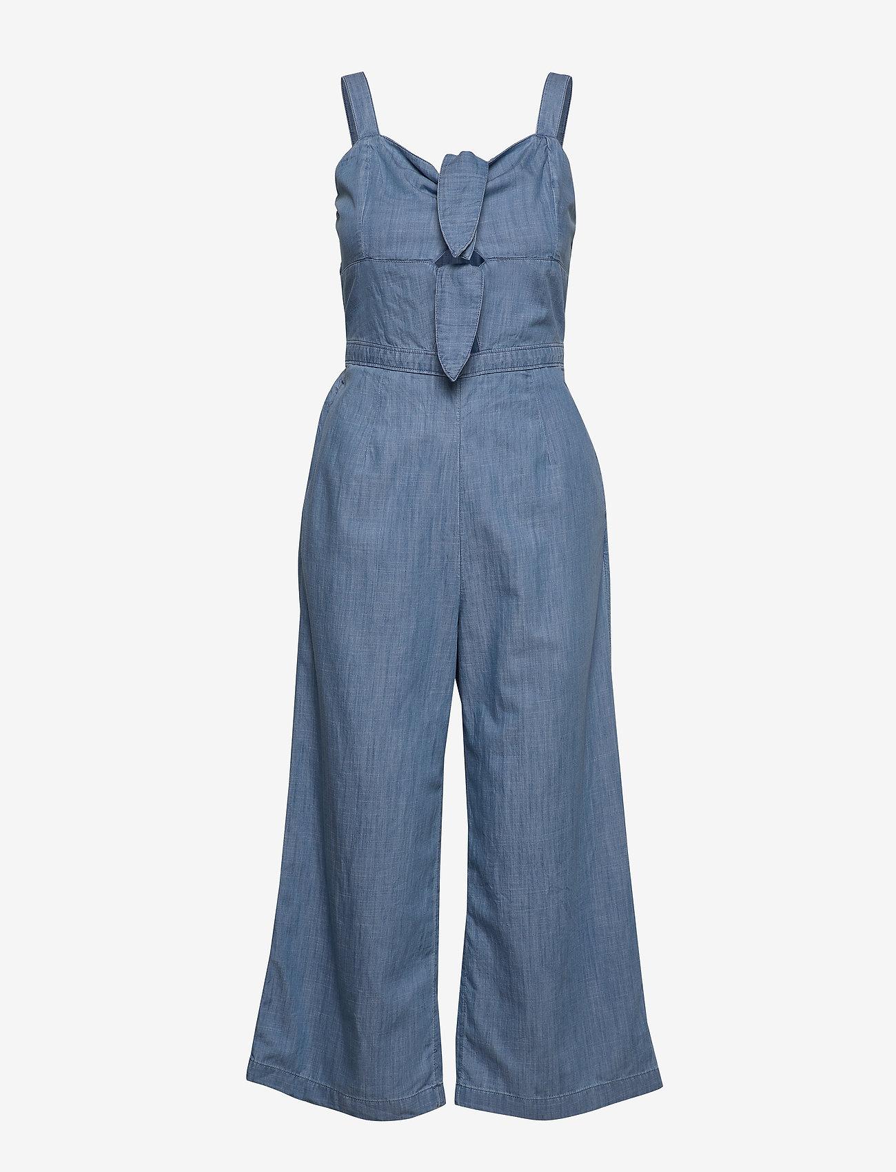 Hollister - Double Tie Jumpsuit - jumpsuits - med blue dd - 0