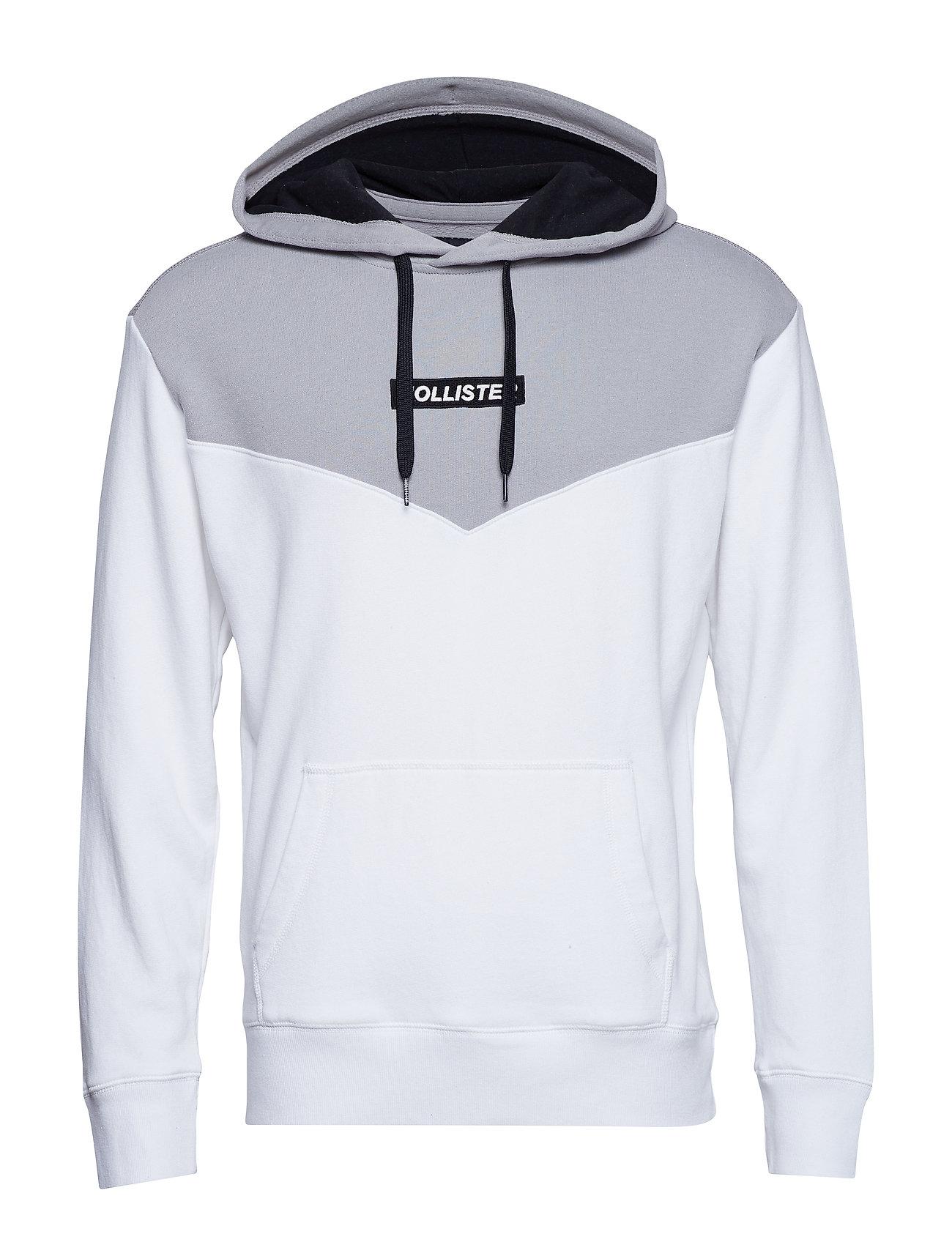 Hollister Logo Sweatshirt - WHITE