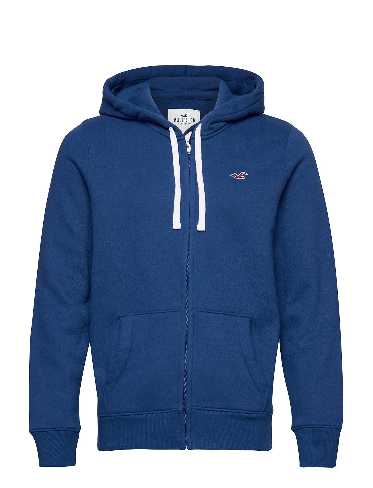 Hollister Full Zip Sweatshirt - MED BLUE DD