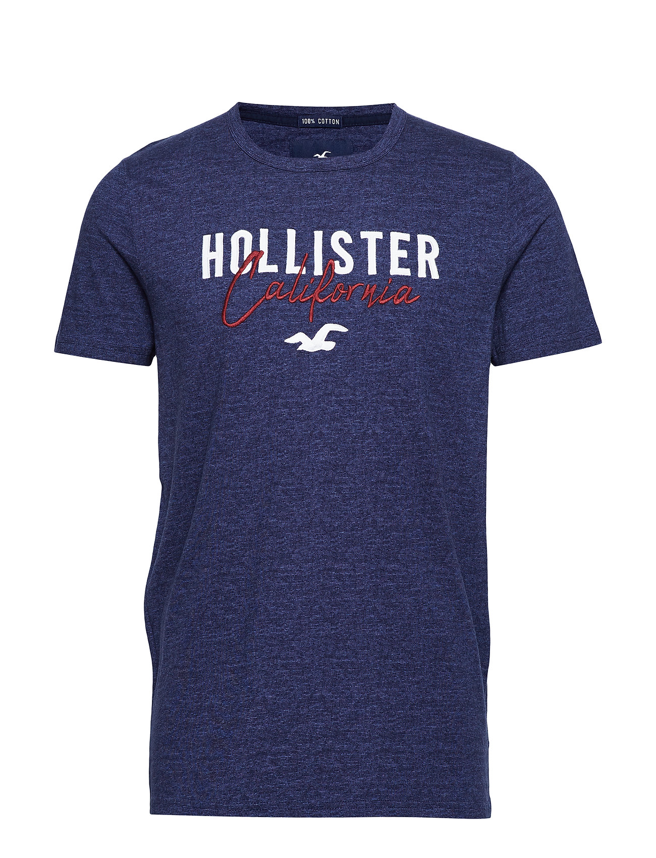 Hollister Graphic T-Shirt - MED BLUE SD/TEXTURE