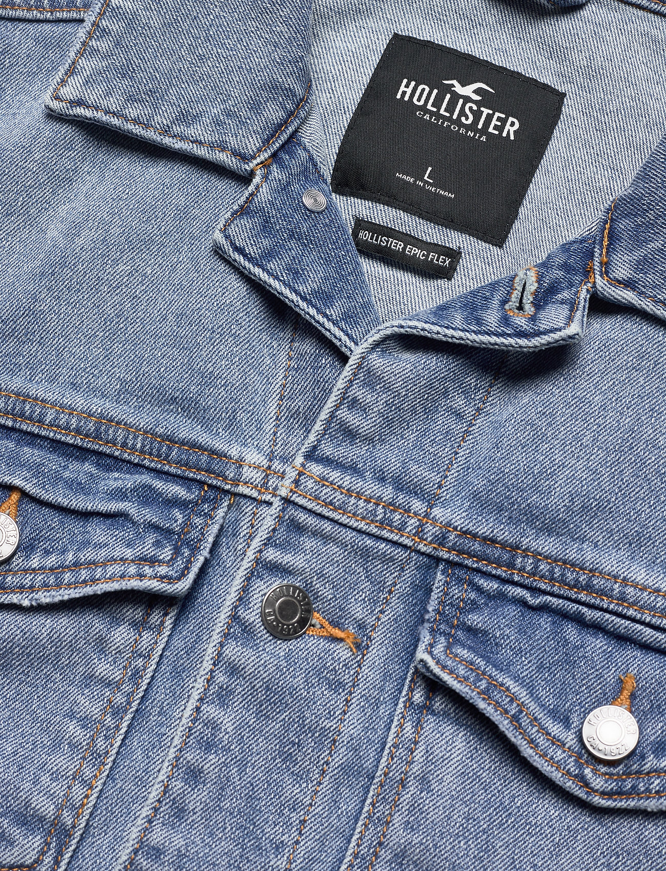 Wash Denim Trucker (Light) (51.35 €) - Hollister eVmZa
