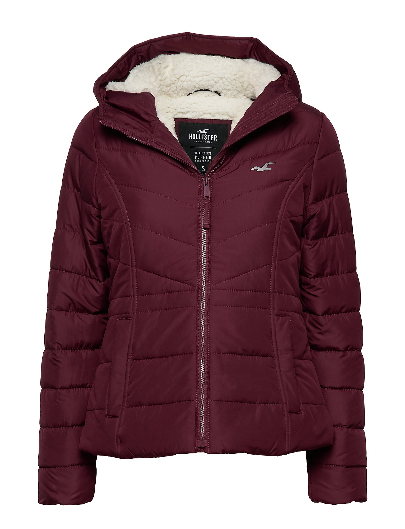 Hollister Core Puffer - BURGUNDY DD