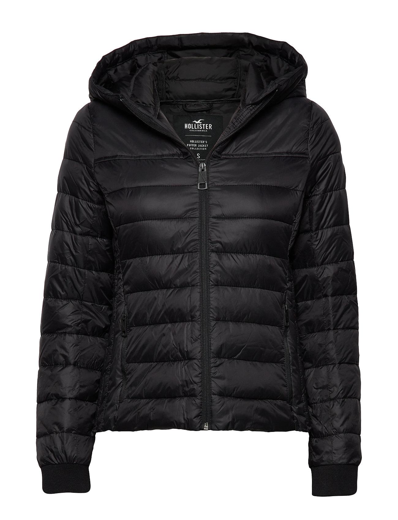 Hollister Lightweight Puffer Jacket - BLACK DD