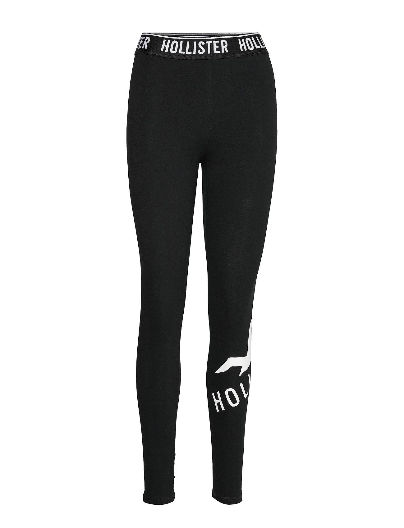 Hollister Logo Wb Graphic Legging - BLACK DD