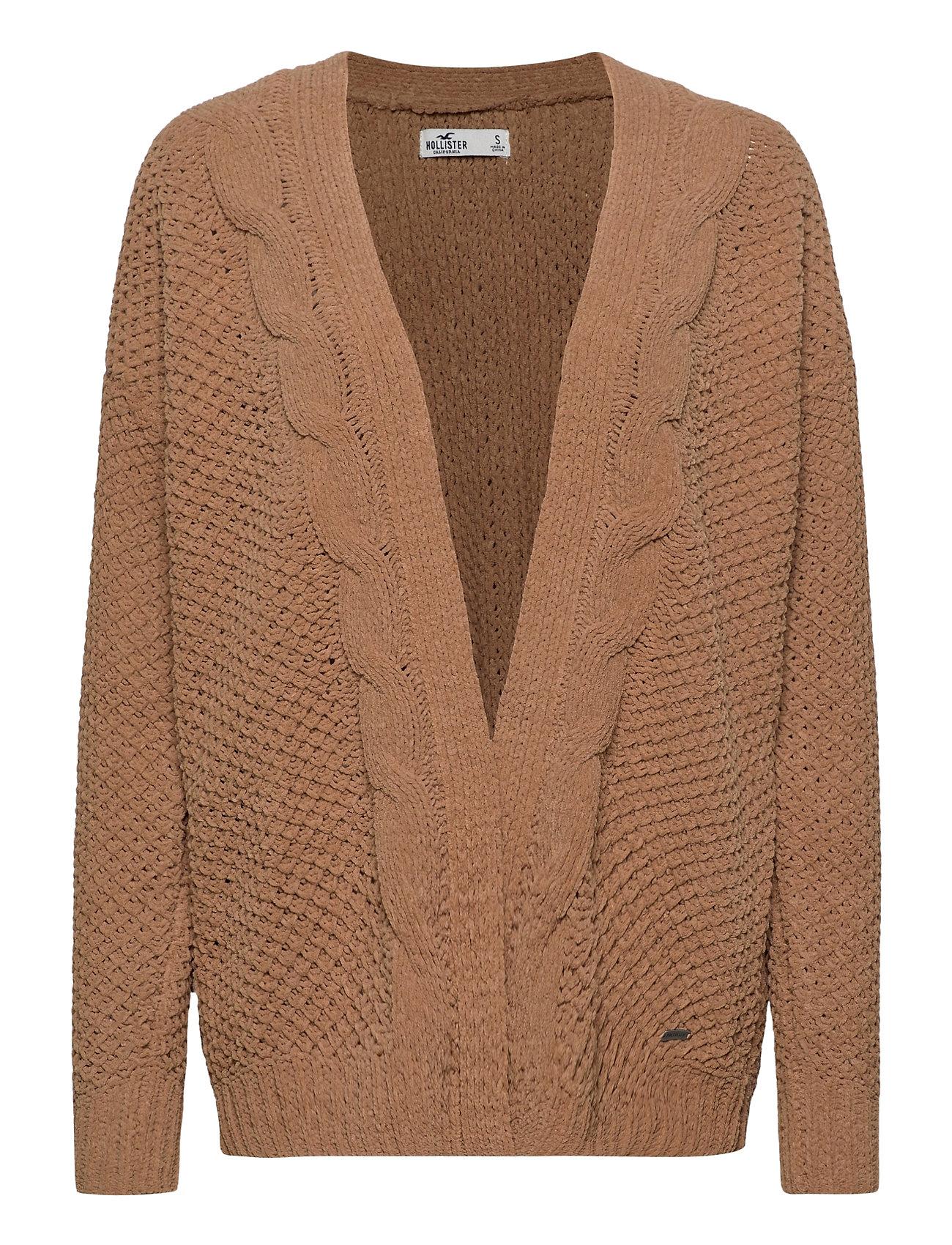Image of Hco. Girls Sweaters Strikket Trøje Cardigan Brun Hollister (3463722541)