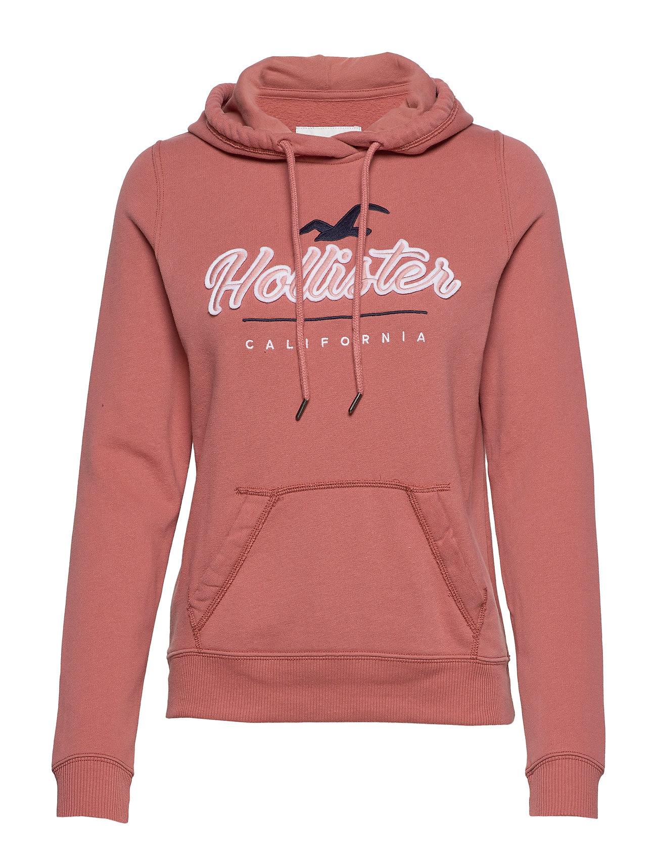 Hollister Popover Fleece Hoodie - LIGHT PINK DD