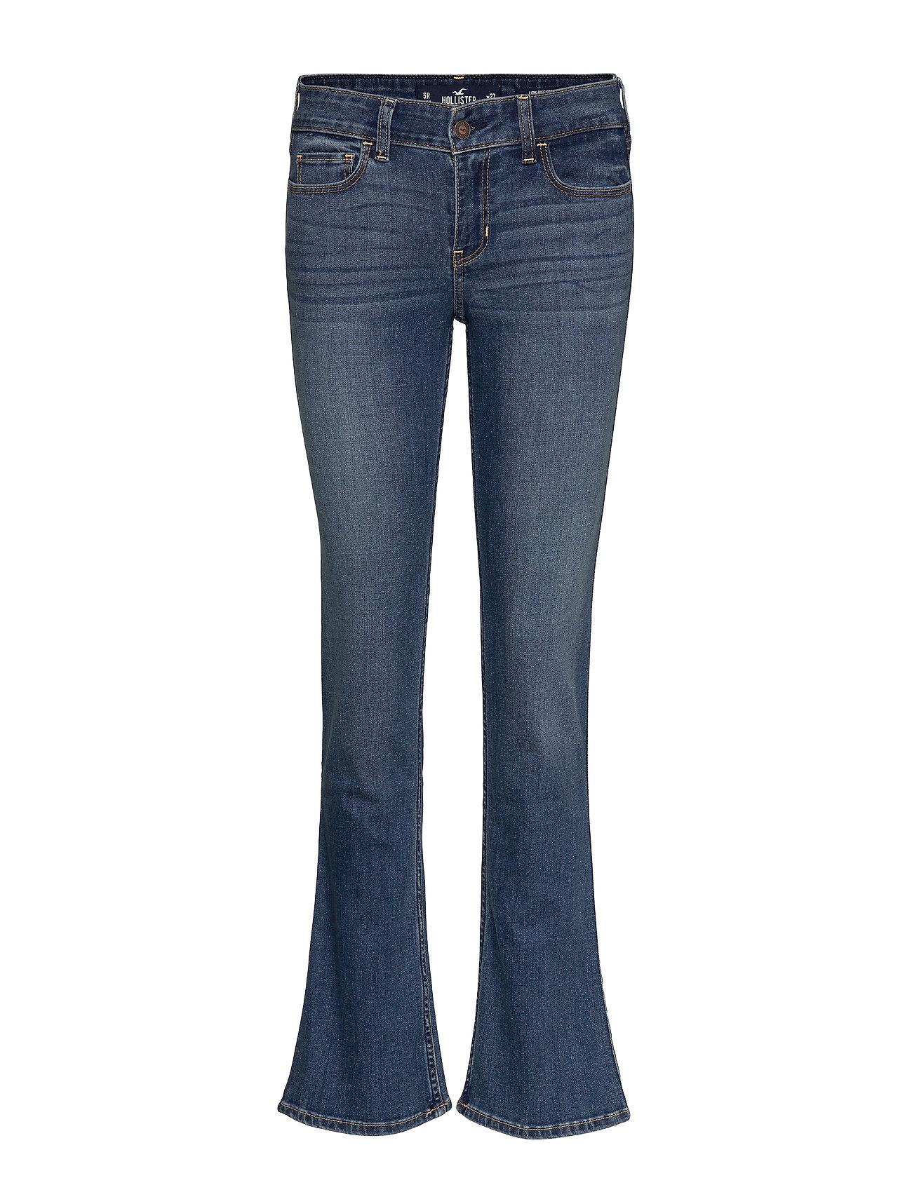 Hollister Medium Lr Boot Jeans - TURQ/BLUE PATTERN