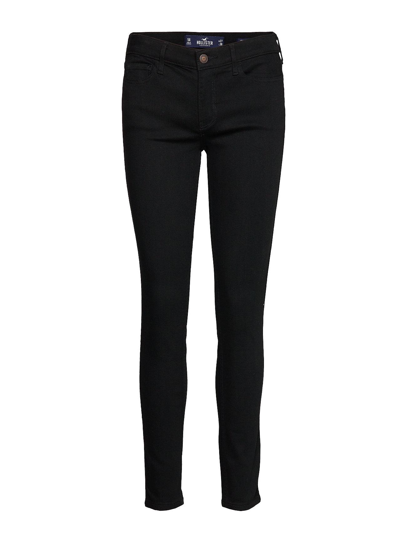 Hollister Lrss Jeans - PURE BLACK