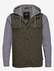 Hollister - Twofer Jacket - podstawowe koszulki - olive dd - 1