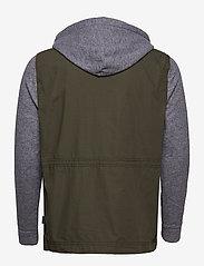 Hollister - Twofer Jacket - podstawowe koszulki - olive dd - 2