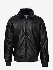 Hollister - Jacket - lederjacken - black dd - 0