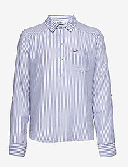 Hollister - POPOVER - chemises à manches longues - blue stripe - 0