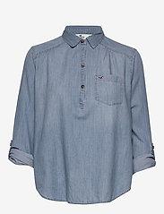 Hollister - Chambray Popover - jeansblouses - medium - 2