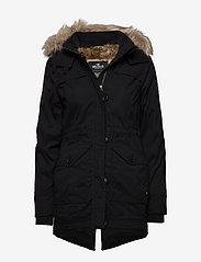 Hollister - Fur Lined Parka - parki - black dd - 0