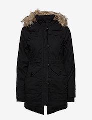 Hollister - Fur Lined Parka - parki - black dd - 1