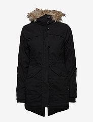 Hollister - Fur Lined Parka - parki - black dd - 2