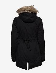 Hollister - Fur Lined Parka - parki - black dd - 3