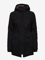 Hollister - Fur Lined Parka - parki - black dd - 4