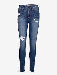 Hollister - High Rise Super Skinny - skinny jeans - medium destroy - 0
