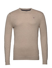 Crew Sweater - LIGHT BROWN SD/TEXTURE