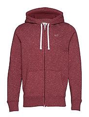 Full Zip Sweatshirt - BURGUNDY SD/TEXTURE