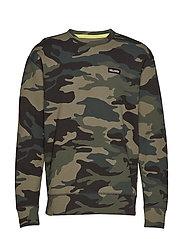 Crewneck Sweatshirt - GREEN CAMO
