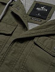 Hollister - Twofer Jacket - podstawowe koszulki - olive dd - 3