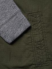 Hollister - Twofer Jacket - podstawowe koszulki - olive dd - 4