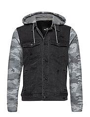 Denim Jacket - BLACK DESTROY