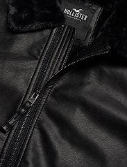 Hollister - Jacket - lederjacken - black dd - 2