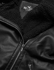 Hollister - LEATHER BIKER - skinnjackor - black - 3