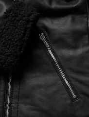Hollister - LEATHER BIKER - skinnjackor - black - 4