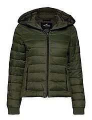 Lightweight Puffer Jacket - OLIVE DD