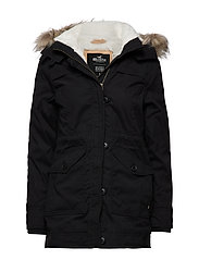 Teddy Lined Parka - BLACK DD