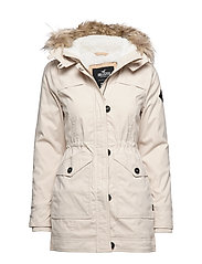 Teddy Lined Parka - LIGHT BROWN DD