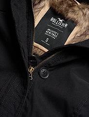 Hollister - Fur Lined Parka - parki - black dd - 7