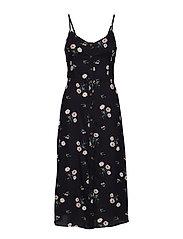 Twistback Midi Dress - BLACK PRINT