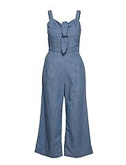 Double Tie Jumpsuit - MED BLUE DD