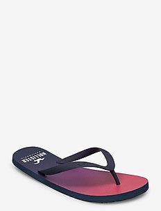 Patterned Rubber Flip - flip flops - red print