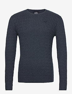 HCo. GUYS SWEATERS - pulls col rond - navy