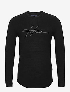 HCo. GUYS SWEATERS - pulls col rond - black graphic