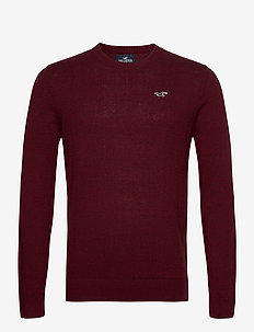 HCo. GUYS SWEATERS - tricots basiques - burgundy sd/texture