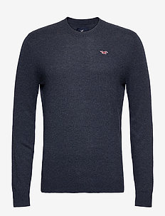 HCo. GUYS SWEATERS - tricots basiques - navy sd/texture