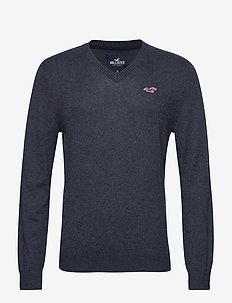 Crew Sweater - NAVY SD/TEXTURE